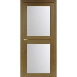 Межкомнатная дверь Optima Porte Турин 520.212 (орех, остеклённая)