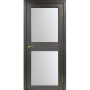 Межкомнатная дверь Optima Porte Турин 520.212 (венге, остеклённая)
