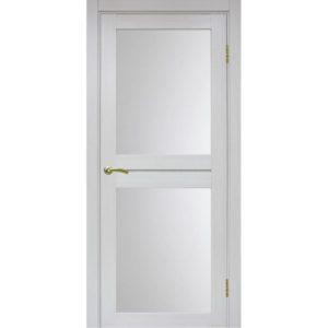 Межкомнатная дверь Optima Porte Турин 520.212 (ясень серебристый, остеклённая)