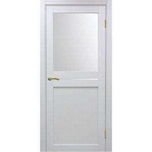Межкомнатная дверь Optima Porte Турин 520.221 (белый монохром, остеклённая)