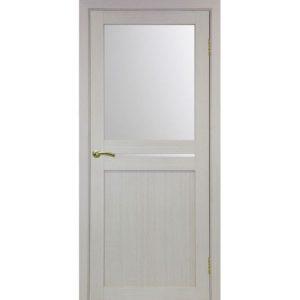 Межкомнатная дверь Optima Porte Турин 520.221 (дуб белёный, остеклённая)