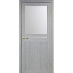 Межкомнатная дверь Optima Porte Турин 520.221 (дуб серый, остеклённая)