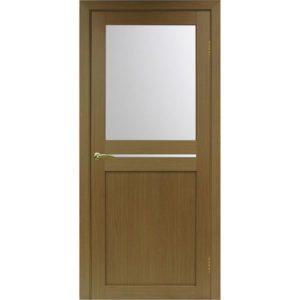 Межкомнатная дверь Optima Porte Турин 520.221 (орех, остеклённая)