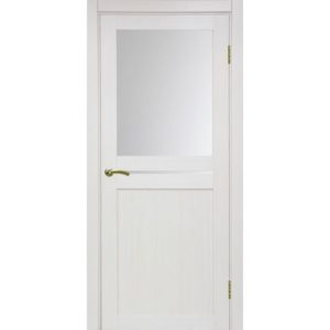 Межкомнатная дверь Optima Porte Турин 520.221 (ясень перламутровый, остеклённая)
