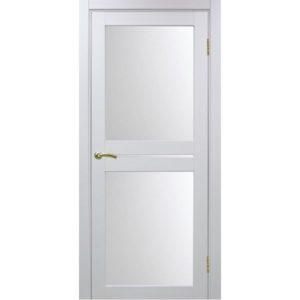 Межкомнатная дверь Optima Porte Турин 520.222 (белый монохром, остеклённая)