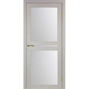Межкомнатная дверь Optima Porte Турин 520.222 (дуб белёный, остеклённая)