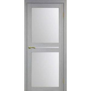 Межкомнатная дверь Optima Porte Турин 520.222 (дуб серый, остеклённая)