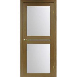 Межкомнатная дверь Optima Porte Турин 520.222 (орех, остеклённая)