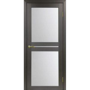 Межкомнатная дверь Optima Porte Турин 520.222 (венге, остеклённая)