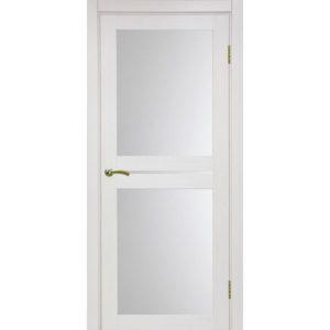 Межкомнатная дверь Optima Porte Турин 520.222 (ясень перламутровый, остеклённая)