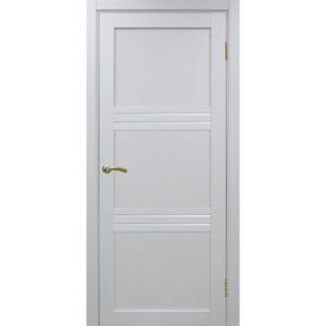 Межкомнатная дверь Optima Porte Турин 553 (белый монохром, остеклённая)