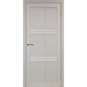 Межкомнатная дверь Optima Porte Турин 553 (дуб белёный, остеклённая)