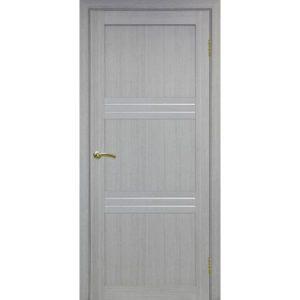 Межкомнатная дверь Optima Porte Турин 553 (дуб серый, остеклённая)