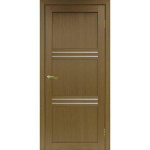 Межкомнатная дверь Optima Porte Турин 553 (орех, остеклённая)