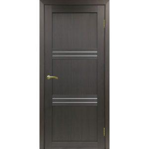 Межкомнатная дверь Optima Porte Турин 553 (венге, остеклённая)