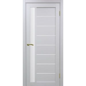 Межкомнатная дверь Optima Porte Турин 554 (белый монохром, остеклённая)