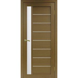 Межкомнатная дверь Optima Porte Турин 554 (орех, остеклённая)