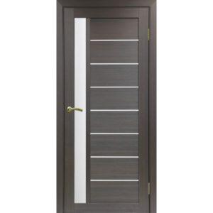 Межкомнатная дверь Optima Porte Турин 554 (венге, остеклённая)