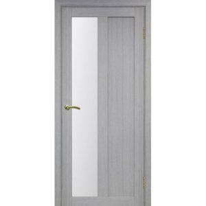 Межкомнатная дверь Optima Porte Турин 521.21 (дуб серый, остеклённая)