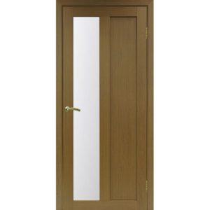 Межкомнатная дверь Optima Porte Турин 521.21 (орех, остеклённая)