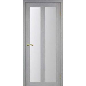 Межкомнатная дверь Optima Porte Турин 521.22 (дуб серый, остеклённая)