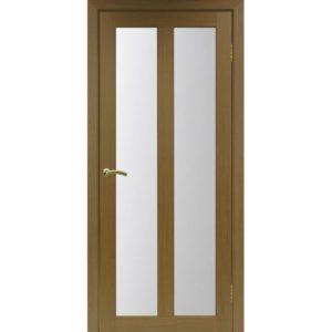 Межкомнатная дверь Optima Porte Турин 521.22 (орех, остеклённая)