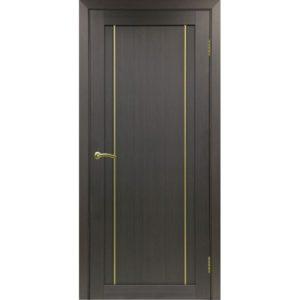 Межкомнатная дверь Optima Porte Турин 522.111 (АПП молдинг SG, венге, глухая)