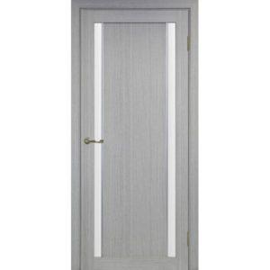 Межкомнатная дверь Optima Porte Турин 522.212 (АПС молдинг SC, дуб серый, остеклённая)