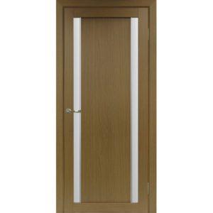 Межкомнатная дверь Optima Porte Турин 522.212 (АПС молдинг SC, орех, остеклённая)