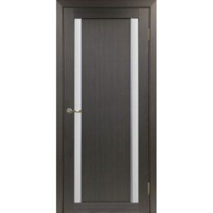 Межкомнатная дверь Optima Porte Турин 522.212 (АПС молдинг SC, венге, остеклённая)