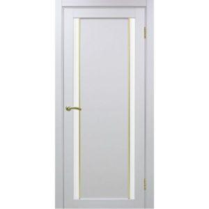 Межкомнатная дверь Optima Porte Турин 522.212 (АПС молдинг SG, белый монохром, остеклённая)