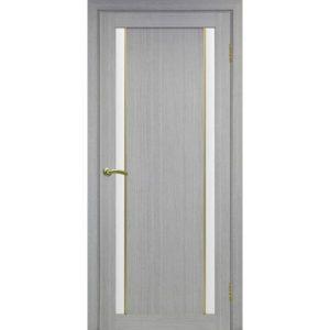 Межкомнатная дверь Optima Porte Турин 522.212 (АПС молдинг SG, дуб серый, остеклённая)