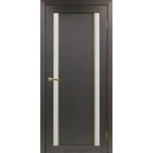 Межкомнатная дверь Optima Porte Турин 522.212 (АПС молдинг SG, венге, остеклённая)