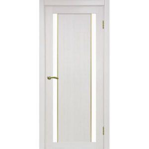 Межкомнатная дверь Optima Porte Турин 522.212 (АПС молдинг SG, ясень перламутровый, остеклённая)
