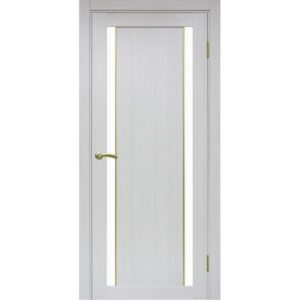 Межкомнатная дверь Optima Porte Турин 522.212 (АПС молдинг SG, ясень серебристый, остеклённая)