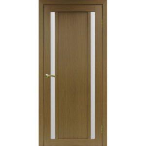 Межкомнатная дверь Optima Porte Турин 522.212 (орех, остеклённая)