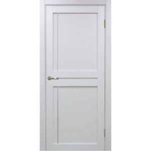 Межкомнатная дверь Optima Porte Турин 523.111 (АПП молдинг SC, белый монохром, глухая)