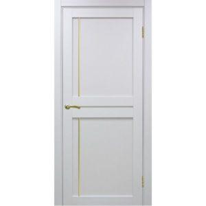 Межкомнатная дверь Optima Porte Турин 523.111 (АПП молдинг SG, белый монохром, глухая)