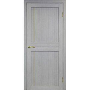 Межкомнатная дверь Optima Porte Турин 523.111 (АПП молдинг SG, дуб серый, глухая)