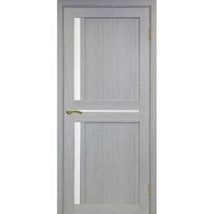 Межкомнатная дверь Optima Porte Турин 523.221 (дуб серый, остеклённая)