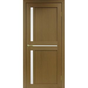 Межкомнатная дверь Optima Porte Турин 523.221 (орех, остеклённая)