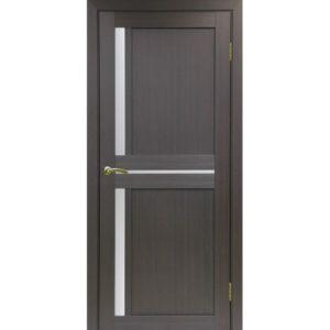 Межкомнатная дверь Optima Porte Турин 523.221 (венге, остеклённая)
