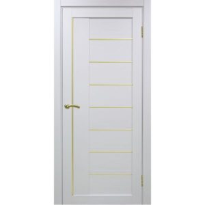 Межкомнатная дверь Optima Porte Турин 524 (АПП молдинг SG, белый монохром, глухая)