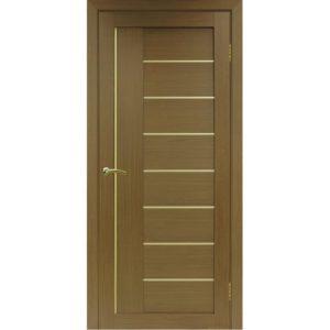 Межкомнатная дверь Optima Porte Турин 524 (АПП молдинг SG, орех, глухая)