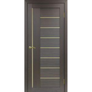 Межкомнатная дверь Optima Porte Турин 524 (АПП молдинг SG, венге, глухая)