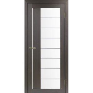 Межкомнатная дверь Optima Porte Турин 524 (АСС молдинг SC, венге, остеклённая)