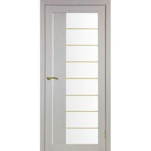 Межкомнатная дверь Optima Porte Турин 524 (АСС молдинг SG, дуб белёный, остеклённая)