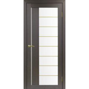 Межкомнатная дверь Optima Porte Турин 524 (АСС молдинг SG, венге, остеклённая)
