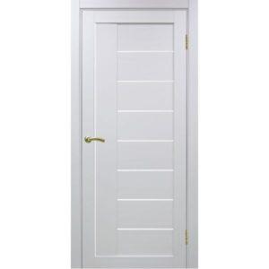 Межкомнатная дверь Optima Porte Турин 524 (белый монохром, остеклённая)