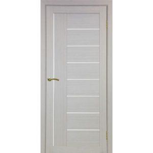 Межкомнатная дверь Optima Porte Турин 524 (дуб белёный, остеклённая)